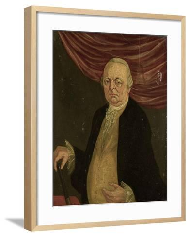 Portrait of Reinier De Klerk, Governor-General of the Dutch East India Company-Franciscus Josephus Fricot-Framed Art Print