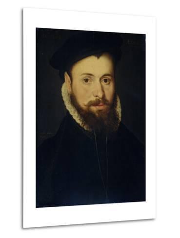 Portrait of a Young Man- Cornelis de Zeeuw & Pieter Pourbus-Metal Print