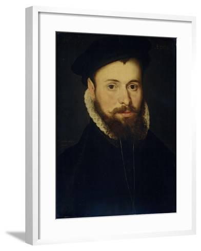 Portrait of a Young Man- Cornelis de Zeeuw & Pieter Pourbus-Framed Art Print