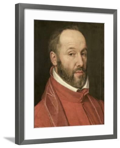 Portrait of Antoine Perrenot, Cardinal De Granvelle, Minister to Charles V and Philip II--Framed Art Print