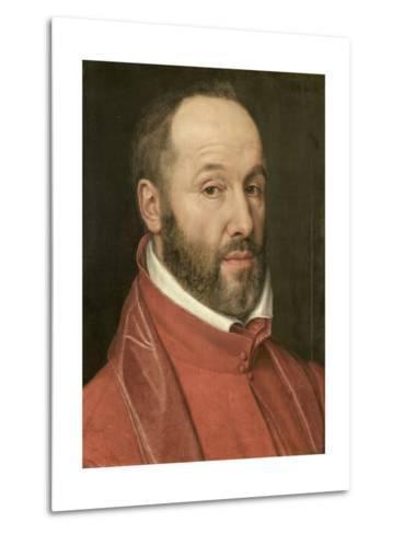 Portrait of Antoine Perrenot, Cardinal De Granvelle, Minister to Charles V and Philip II--Metal Print