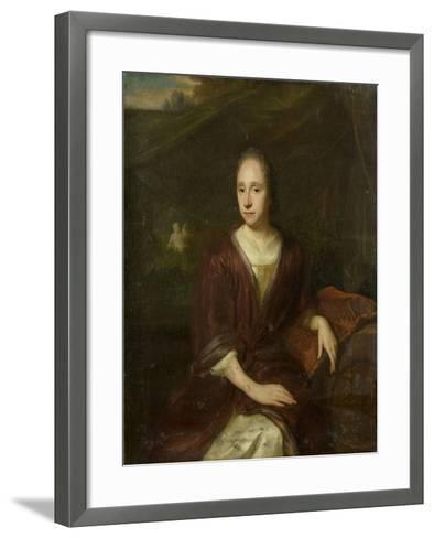Portrait of Margaretha Nelis, Second Wife of Casparus Commelin-David van der Plas-Framed Art Print