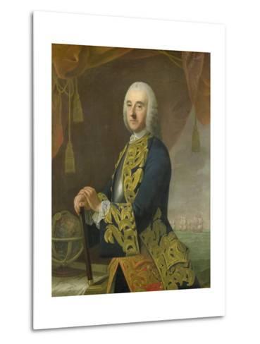 Portrait of Vice-Admiral Hendrik Lijnslager, Son of Harmen Lijnslager and Judith Allijn-Guillaume de Spinny-Metal Print