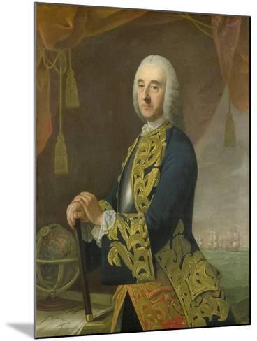 Portrait of Vice-Admiral Hendrik Lijnslager, Son of Harmen Lijnslager and Judith Allijn-Guillaume de Spinny-Mounted Art Print