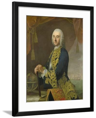 Portrait of Vice-Admiral Hendrik Lijnslager, Son of Harmen Lijnslager and Judith Allijn-Guillaume de Spinny-Framed Art Print