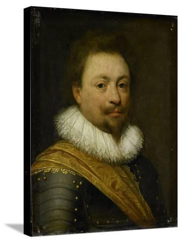 Portrait of William, Count of Nassau-Siegen-Jan Antonisz van Ravesteyn-Stretched Canvas Print