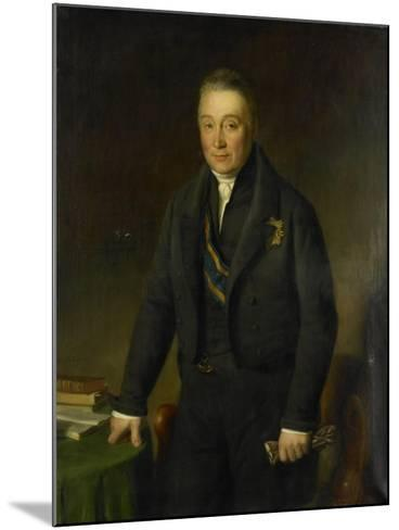 Portrait of Count Adam-Francois-Jules-Armand Van Der Duyn Van Maasdam-Jean-Baptiste Van der Hulst-Mounted Art Print