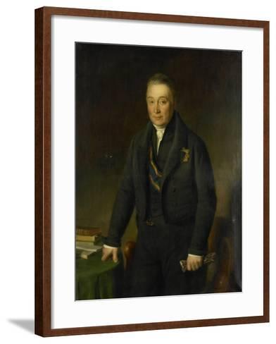 Portrait of Count Adam-Francois-Jules-Armand Van Der Duyn Van Maasdam-Jean-Baptiste Van der Hulst-Framed Art Print