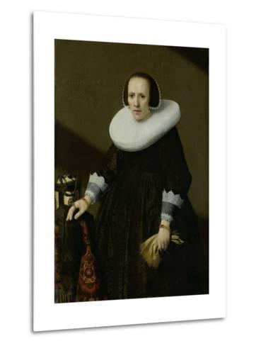Portrait of Geertruyd Reael, Wife of Philips Denijs-Huygh Pietersz Voskuyl-Metal Print