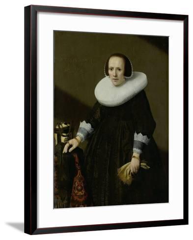 Portrait of Geertruyd Reael, Wife of Philips Denijs-Huygh Pietersz Voskuyl-Framed Art Print