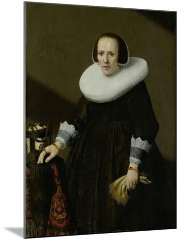 Portrait of Geertruyd Reael, Wife of Philips Denijs-Huygh Pietersz Voskuyl-Mounted Art Print