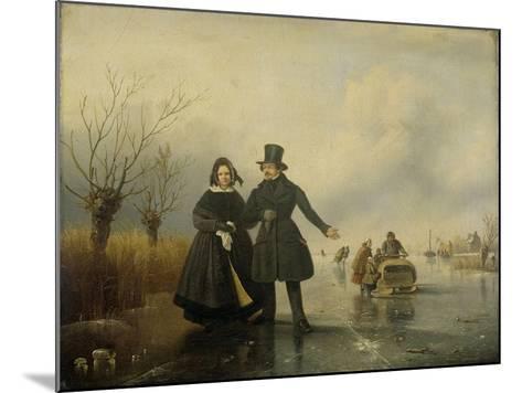 Portrait of Mr. and Mrs. Thijssen on the Ice-Jacobus Sorensen-Mounted Art Print