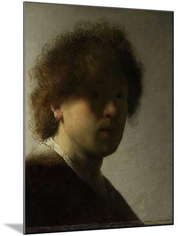 Self-Portrait-Rembrandt van Rijn-Mounted Art Print