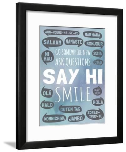 Say Hi-Megan Jurvis-Framed Art Print