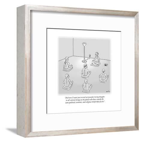 """""""And now I want you to send out peaceful, loving thoughts to all sentient ?"""" - Cartoon-Kim Warp-Framed Art Print"""