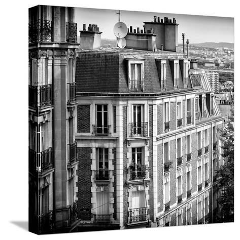 Paris Focus - Montmartre Architecture-Philippe Hugonnard-Stretched Canvas Print