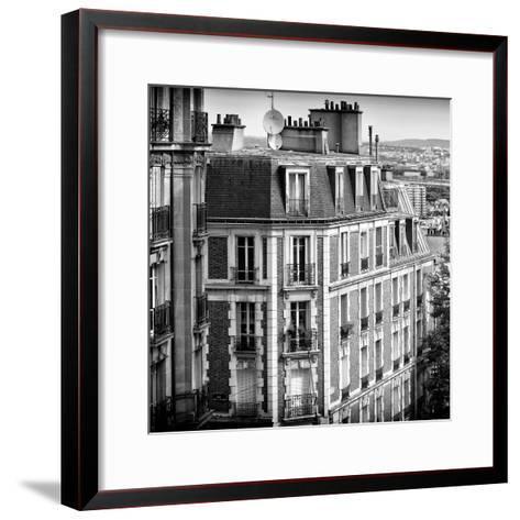 Paris Focus - Montmartre Architecture-Philippe Hugonnard-Framed Art Print