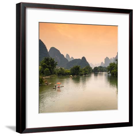 China 10MKm2 Collection - Yangshuo Li River-Philippe Hugonnard-Framed Art Print