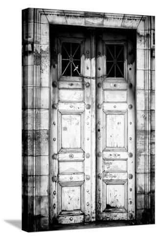 Paris Focus - Old White Door-Philippe Hugonnard-Stretched Canvas Print