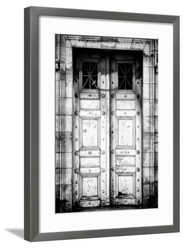 Paris Focus - Old White Door-Philippe Hugonnard-Framed Art Print