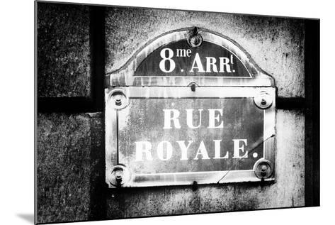 Paris Focus - Rue Royale-Philippe Hugonnard-Mounted Photographic Print