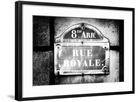 Paris Focus - Rue Royale-Philippe Hugonnard-Framed Art Print