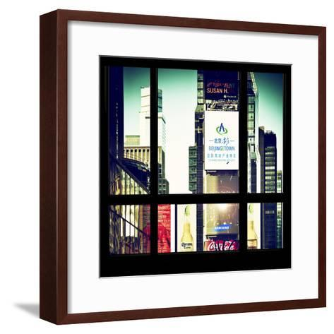 View from the Window - Times Square Buildings-Philippe Hugonnard-Framed Art Print