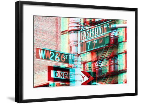 After Twitch NYC - Fashion Avenue-Philippe Hugonnard-Framed Art Print