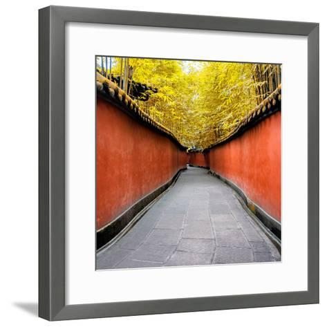 China 10MKm2 Collection - Alley Bamboo-Philippe Hugonnard-Framed Art Print