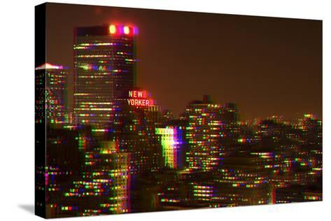 After Twitch NYC - Red Night-Philippe Hugonnard-Stretched Canvas Print