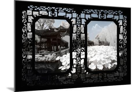 China 10MKm2 Collection - Asian Window - Another Look Series - White Lotus-Philippe Hugonnard-Mounted Photographic Print