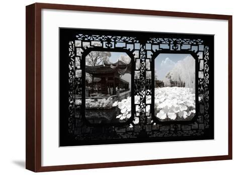 China 10MKm2 Collection - Asian Window - Another Look Series - White Lotus-Philippe Hugonnard-Framed Art Print