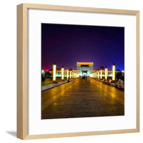 China 10MKm2 Collection - City Lights - Xi'an City-Philippe Hugonnard-Framed Art Print