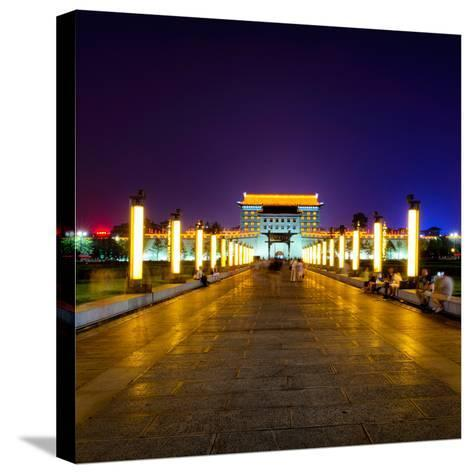 China 10MKm2 Collection - City Lights - Xi'an City-Philippe Hugonnard-Stretched Canvas Print
