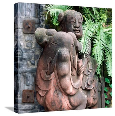 China 10MKm2 Collection - Chinese Statue-Philippe Hugonnard-Stretched Canvas Print