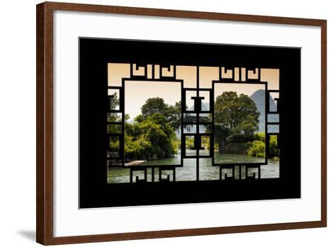 China 10MKm2 Collection - Asian Window - Guilin Yangshuo Bridge-Philippe Hugonnard-Framed Art Print