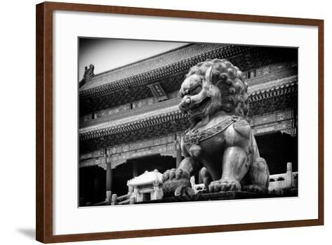 China 10MKm2 Collection - Bronze Chinese Lion in Forbidden City-Philippe Hugonnard-Framed Art Print