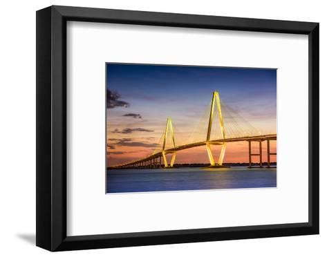 Charleston, South Carolina, USA at Arthur Ravenel Jr. Bridge.-SeanPavonePhoto-Framed Art Print