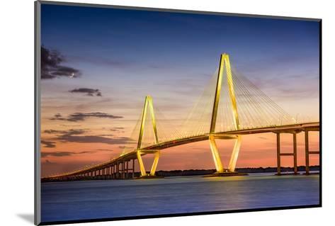 Charleston, South Carolina, USA at Arthur Ravenel Jr. Bridge.-SeanPavonePhoto-Mounted Photographic Print