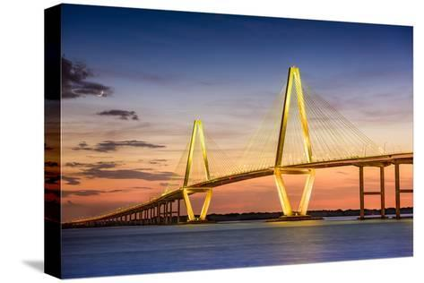 Charleston, South Carolina, USA at Arthur Ravenel Jr. Bridge.-SeanPavonePhoto-Stretched Canvas Print