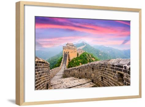 Great Wall of China at the Jinshanling Section.-SeanPavonePhoto-Framed Art Print