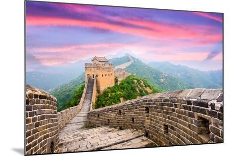 Great Wall of China at the Jinshanling Section.-SeanPavonePhoto-Mounted Photographic Print