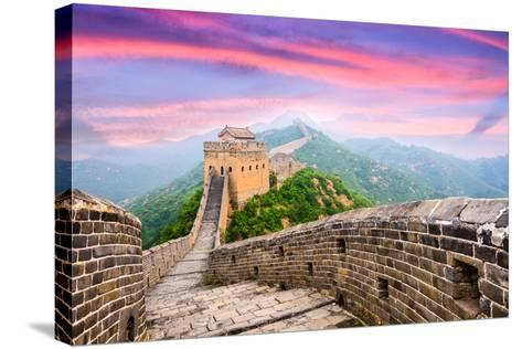 Great Wall of China at the Jinshanling Section.-SeanPavonePhoto-Stretched Canvas Print