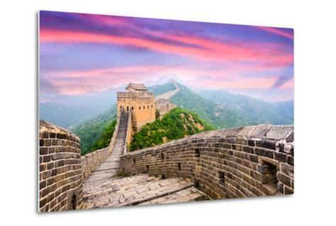 Great Wall of China at the Jinshanling Section.-SeanPavonePhoto-Metal Print