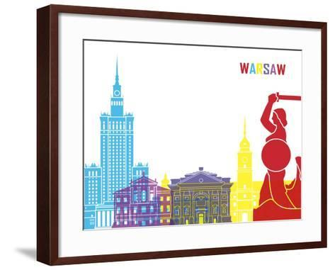 Warsaw Skyline Pop Art Print by paulrommer | Art.com