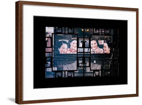 China 10MKm2 Collection - Asian Window - Vintage Chinese Shanghai Girls-Philippe Hugonnard-Framed Art Print