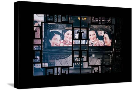 China 10MKm2 Collection - Asian Window - Vintage Chinese Shanghai Girls-Philippe Hugonnard-Stretched Canvas Print