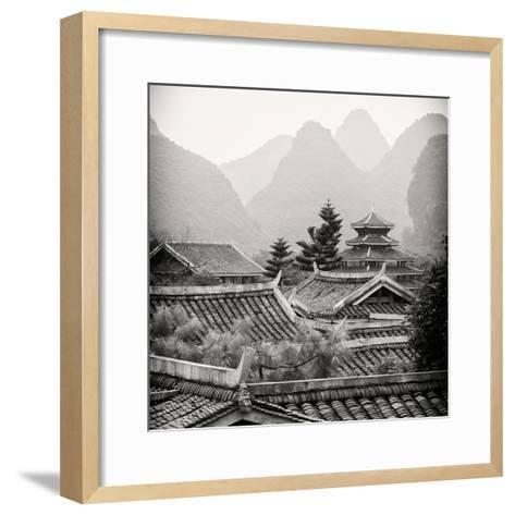 China 10MKm2 Collection - Chinese Buddhist Temple with Karst Mountains-Philippe Hugonnard-Framed Art Print