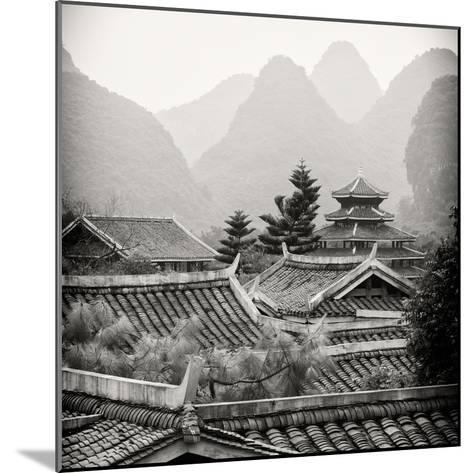 China 10MKm2 Collection - Chinese Buddhist Temple with Karst Mountains-Philippe Hugonnard-Mounted Photographic Print