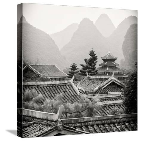 China 10MKm2 Collection - Chinese Buddhist Temple with Karst Mountains-Philippe Hugonnard-Stretched Canvas Print